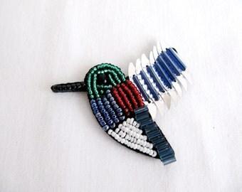 2PCS.Bird embellishment/Beaded Bird/Sew On Bird/Bird  Patch/Handmade Bird