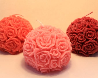 Scented Rose Sphere Candle