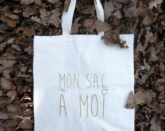 "Cabas ""My bag to me"" Tote bag"