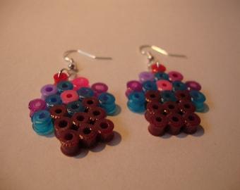 8-bit Cupcake Drop Earrings