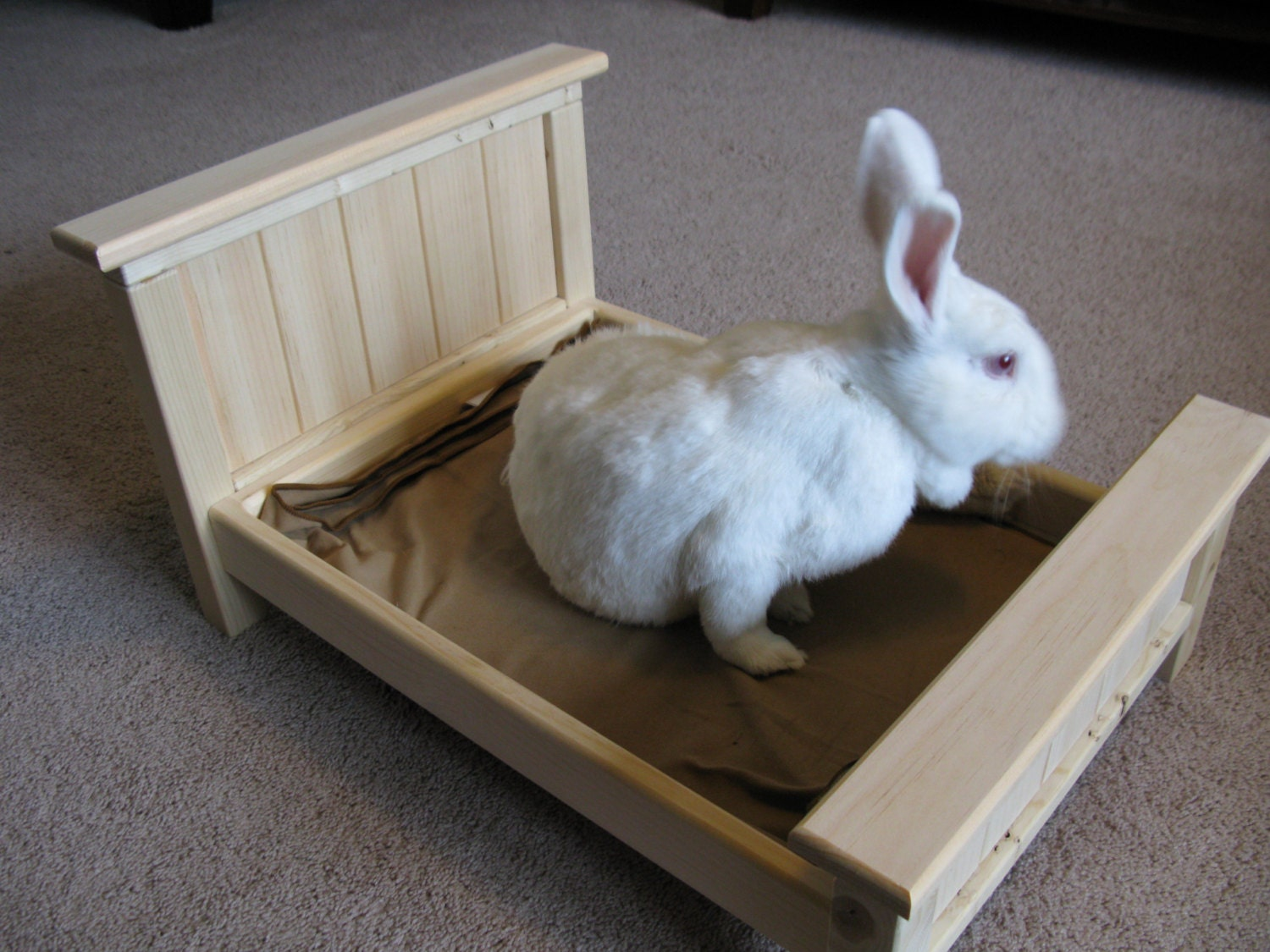 Flat Beds Chesterfield Upholstered Full Over Full Grey Bunk Bed Bunny Rabbit Small