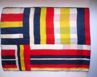 Vintage Silk Scarf/ British Design