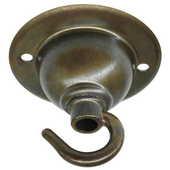 Pendant Light Hook: Antique Bronze Ceiling Rose Hook For Pendant Light Or By