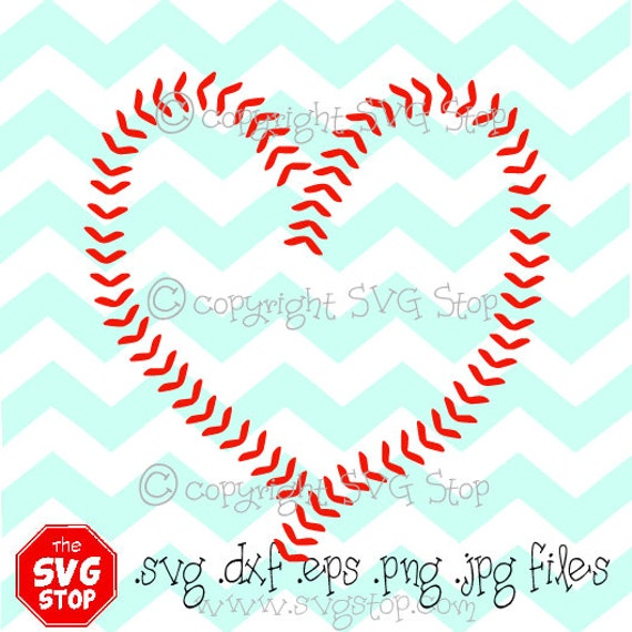 Baseball Heart Stitching Svg And Studio Files For Cricut