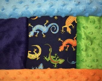 Personalized Gecko/Lizard Blanket