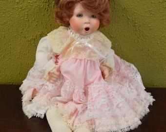 Vintage Doll w/Porcelian Head