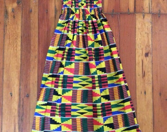 1960s colorful Native American inspired maxi dress!