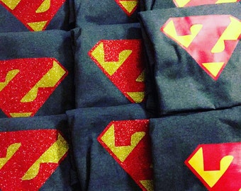 Custom Super Hero Iron On - SuperHero - Super Hero Party - Superman - Super Boy - Super Girl - Super Woman