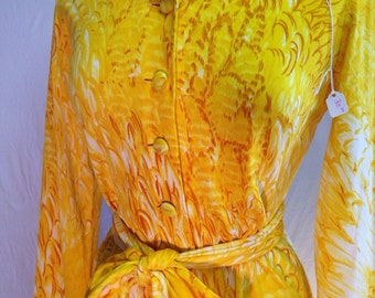 Vintage yellow petal dress