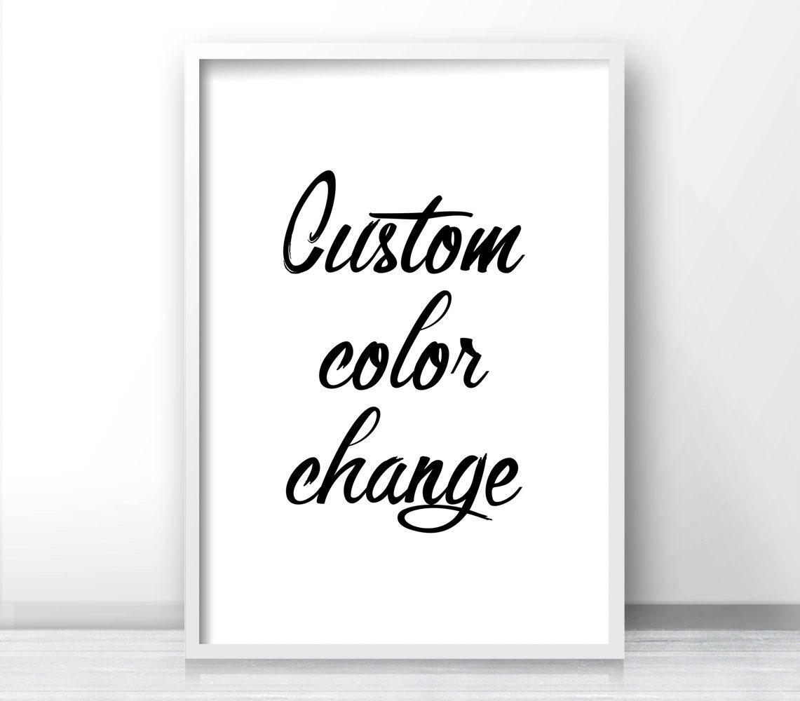 CUSTOM COLOR CHANGE Of Any Set Of 2 Prints From By