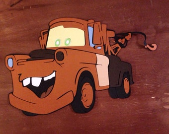 Mater die cut from the movie Cars