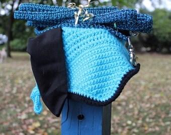 MKBonnets + The Lifeproof Equine Blue/Black Bonnet and Reins Set