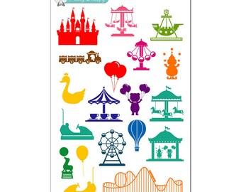 Circus Carnival Fair Stickers
