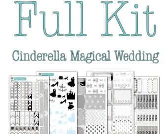 Cinderella Magical Wedding Collection - Disney Planner Stickers