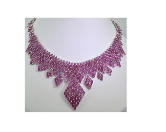 Sterling Silver and Rubies 20 inch Necklace 78.2 grams