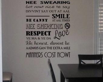 Geordie House Rules