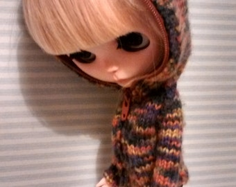 Blythe knittig jacket with hood