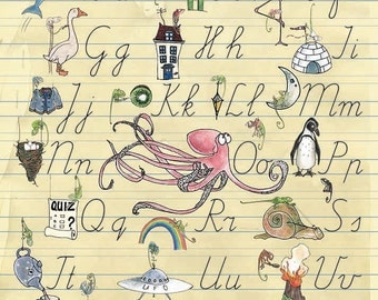 Print Writing Letters/Alphabet - A4 size
