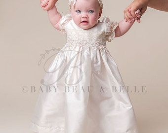 Christening Dress, Jessica Silk Baptism Dress