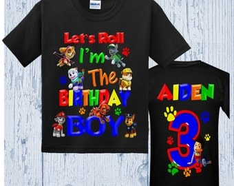 Paw Patrol Birthday Shirt - All Characters