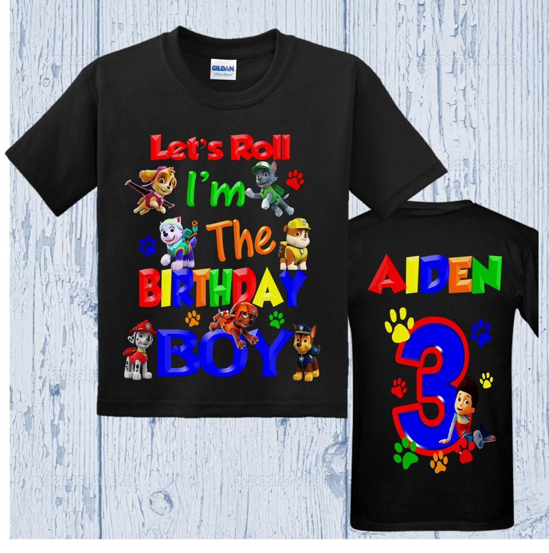 Paw Patrol Birthday Shirt All Characters