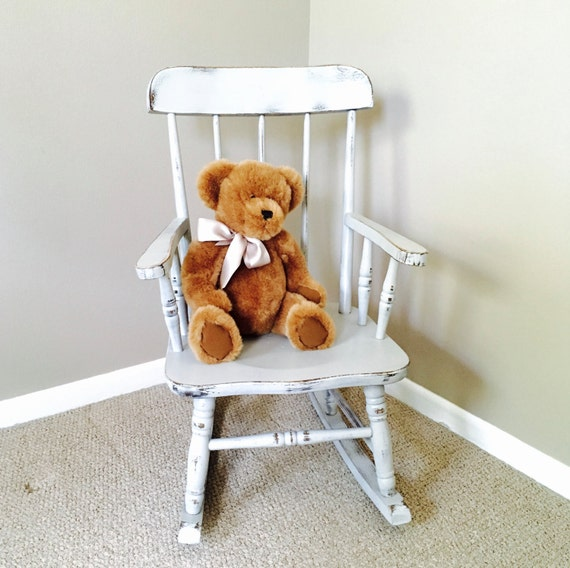 Child s rocking chair kid s chairs shabby chic