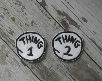 thing 2 iron on etsy. Black Bedroom Furniture Sets. Home Design Ideas