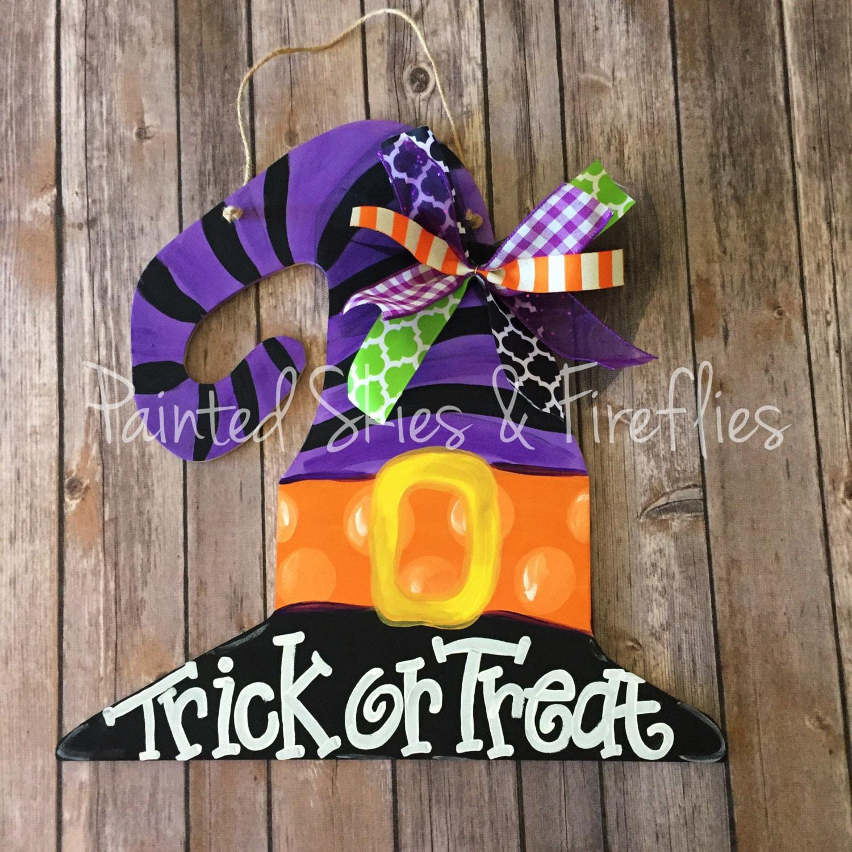 Halloween Decor  Halloween Door Hanger  Witch Hat Door ~ 230255_Halloween Door Hanging