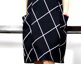 Original design  geometric pattern dress