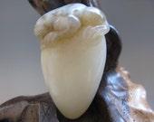 Free shipping Hand Carved Natural 100% Sinkiang Hetian Hard Material White Jade Graven Cicada Pendant NAJTB130