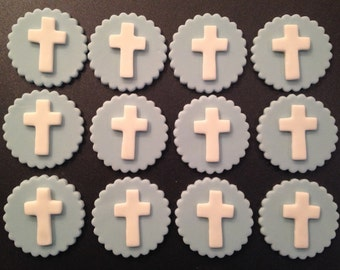 Fondant Cupcake Topper Christening/Communion Theme