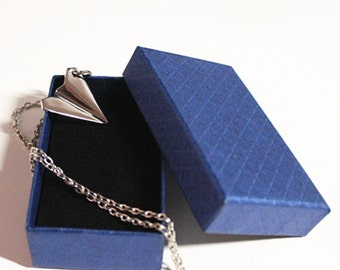 High Quality Paper Airplane Necklace, One Direction Necklace Plane Necklace Sliver Airplane Harry Styles necklace--U.S. Fast Shipping