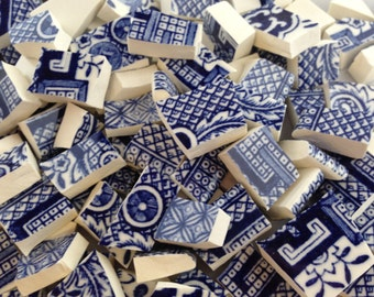 Blue Willow China Mosaic Tiles