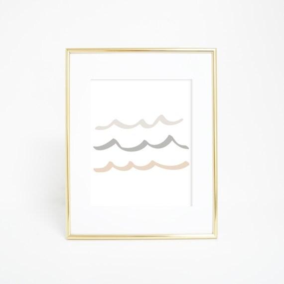 Wave Print, Neutral Print, Neutral Home Decor, Wave Prints, Wave Art, Ocean Wall Print, Digital Prints, Coastal Decor, Nautical Prints
