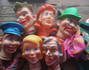 Vintage West Germany ERLO Rubber Head Puppets