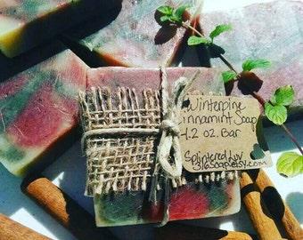 Organic Bar Soap/Essential Oil Soap/Handmade Soap/Fir Needle/Peppermint/Cinnamon/Cold Process Soap/All Natural Soap/Vegan Soap/Gift Soap/