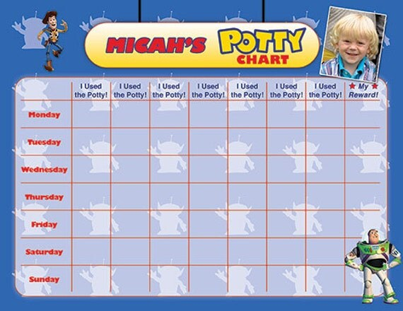 Toy Story Potty Training Chart : Toy story potty chart training reward