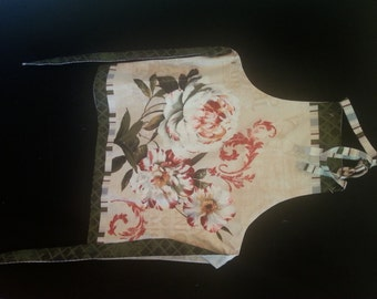 Apron with Peony flowers