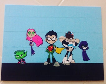 Teen Titans Go Duct Tape Painting