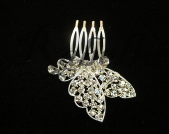 Crystal Butterfly Hair comb