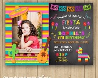 Fiesta Birthday Invitation, Fiesta Invitation, Cinco De Mayo Invitation