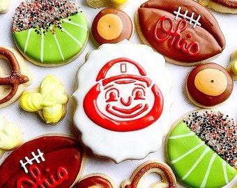 Ohio State Cookies Custom Buckeye Snack Set