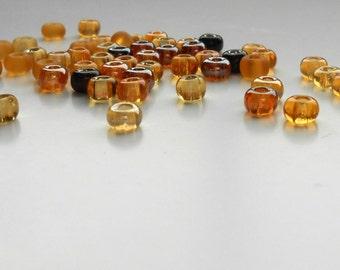 50 Topaz Mix Czech Seed Bead Mix, 2/0 Beach Mix Seed Beads, Supplies, Beads, Jewelry Supplies, Bead Supplies, Jewelry Making
