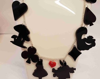 Alice and Friends Fairytale Necklace - Acrylic