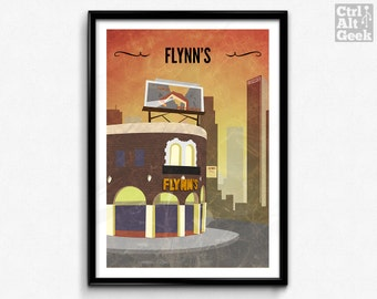 Flynn's Arcade // Tron Poster, Tron Print, Sci-Fi Art, Geek Print, Movie Art, Gamer Decor