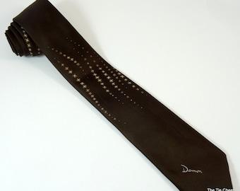"""Vintage Tie Brown Damon Necktie 3"""""""