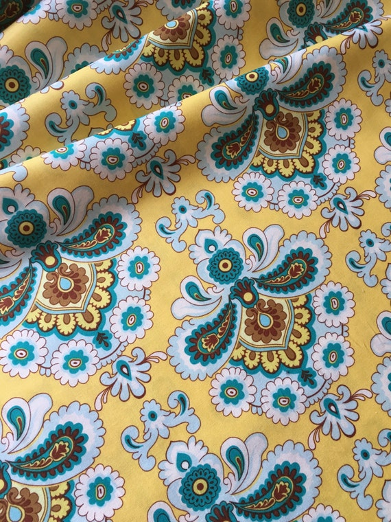 Amy Butler Belle French Wallpaper PWAB111 Mustard (yellow) 1/4 -1/2 yard