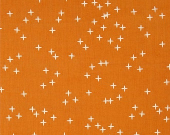 Sale! Birch Wink Orange Organic Cotton Interlock Knit Fabric