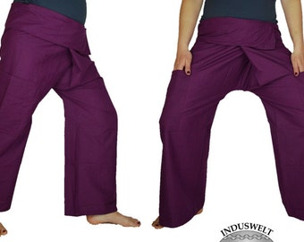 Thai Fisherman Pants Wrap Pants purple