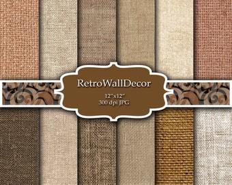 Burlap digital paper , digital burlap textures , digital burlap backgrounds in neutral colors , linen texture Buy 2 Get 1 FREE